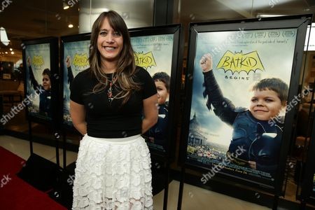 """Director/Producer/Writer Dana Nachman seen at New Line Cinema Los Angeles Special Screening of """"Batkid Begins"""" at The Landmark Theatre, in Los Angeles, CA"""