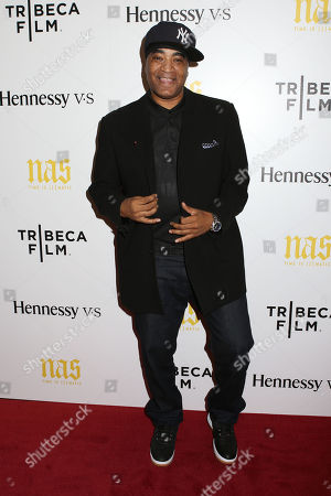 """Stock Image of DJ Marley Marl attends the premiere of """"Nas: Time Is Illmatic"""" at the Museum of Modern Art on in New York"""