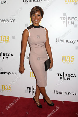 "Television news anchor Sade Baderinwa attends the premiere of ""Nas: Time Is Illmatic"" at the Museum of Modern Art on in New York"