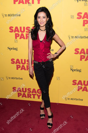 "Kelly Choi attends a screening of the animated film ""Sausage Party"" at the Sunshine Landmark, in New York"