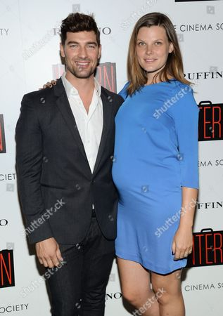 "Cory Bond and wife Bekah Jenkins attend a special screening of ""The Intern"", hosted by The Cinema Society and Ruffino, at the Landmark Sunshine Cinema, in New York"