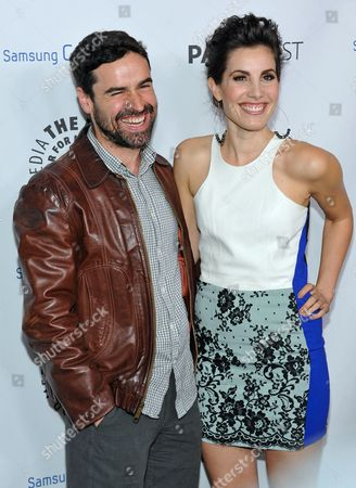Jesse Bradford, left, and Carly Pope attend The Paley Center for Media presentation of their Inaugural PaleyFest Icon Award to Ryan Murphy, hosted by Samsung Galaxy at The Paley Center for Media on in Beverly Hills, California