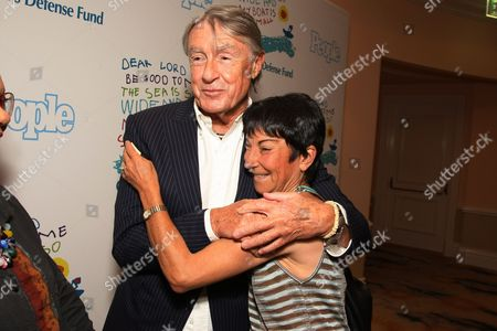 OCTOBER 23: Joel Schumacher and Rosalie Swedlin at People Magazine Luncheon honoring Children's Defense Fund's Marian Wright Edelman on at the Beverly Hills Hotel in Beverly Hills, CA