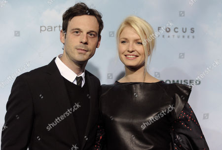 "Actor Scoot McNairy and wife Whitney Able attend the premiere of ""Promised Land"" at AMC Loews Lincoln Square on in New York"