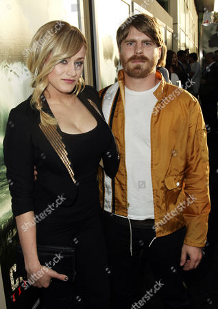 """Stock Image of Cast member Olivia Taylor Dudley, left, and Evan Glodell pose together at the premiere of """"Chernobyl Diaries"""" on in Los Angeles"""