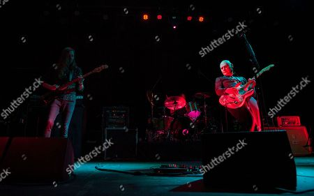 Mark Stoermer of The Killers and Brad Wilk of Rage Against the Machine perform with Billy Corgan as part of the special new line-up of the Smashing Pumpkins at Thalia Hall on in Chicago