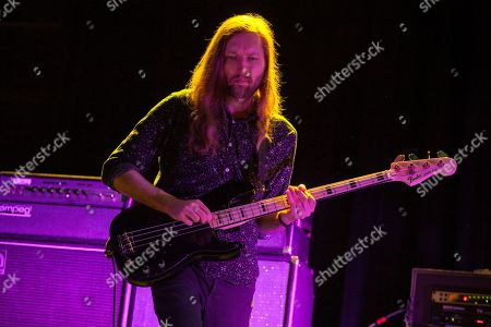 Mark Stoermer of The Killers performs as part of the special new line-up of the Smashing Pumpkins at Thalia Hall on in Chicago