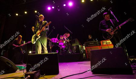 Mark Stoermer of The Killers, Billy Corgan of the Smashing Pumpkins, Brad Wilk of Rage Against the Machine and Jeff Schroeder of the Smashing Pumpkins, perform together as part of the special new line-up of the Smashing Pumpkins at Thalia Hall on in Chicago