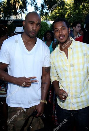 """Datari Turner and Wesley Jonathan at Robi Reed's 10th Annual """"Sunshine Beyond Summer"""" Celebration - The Day Party with a Purpose at the Getty House, in Los Angeles"""