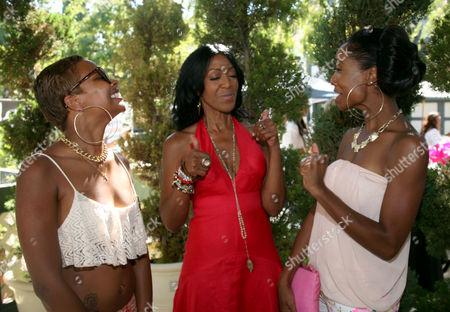 "Eva Pigford, Robi Reed, center, and Kita Williams, right, are seen at Robi Reed's 10th Annual ""Sunshine Beyond Summer"" Celebration - The Day Party with a Purpose at the Getty House, in Los Angeles"