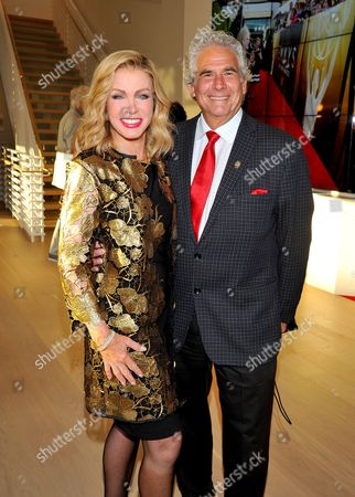 Stock Photo of Donna Mills, left, and Larry Gilman attend the Television Academy's 70th Anniversary Gala and Opening Celebration for its new Saban Media Center, in the NoHo Arts District in Los Angeles