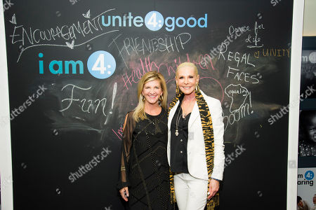 Unite4:good executive director Jennifer Vernon, left, and Michele Herbert attend the kick off of unite4:good's coalition4:good at Soho House NY on in New York