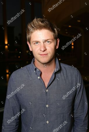 """Stock Image of Actor Michael Grant Terry poses during the arrivals for the opening night performance of """"November"""" at the Center Theatre Group/Mark Taper Forum, in Los Angeles, Calif"""