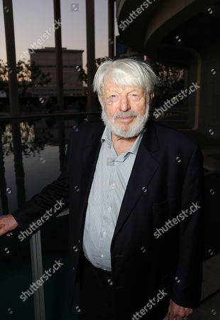 "Actor Theodore Bikel poses during the arrivals for the opening night performance of ""November"" at the Center Theatre Group/Mark Taper Forum, in Los Angeles, Calif"