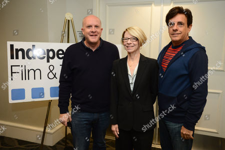 IMAGE DISTRIBUTED FOR IFTA - From left, Cassian Elwes of Elevated Film Sales, Jean M. Prewitt of IFTA and Paul Hertzberg of IFTA attend the 2014 Independent Film & Television Alliance Annual Production Conference on in Los Angeles