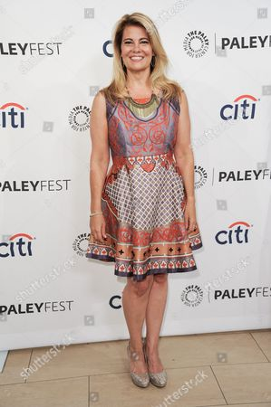"""Stock Photo of Lisa Whelchel arrives at the 2014 PALEYFEST Fall TV Previews - """"The Facts Of Life"""" Reunion on Monday, Sept.15, 2014, in Beverly Hills, Calif"""
