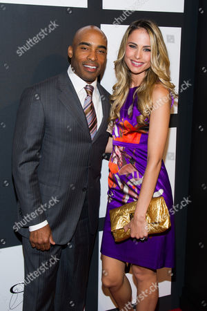 Tiki Barber and Traci Lynn Johnson attend the 2015 Clio Image Awards at The Plaza Hotel, in New York