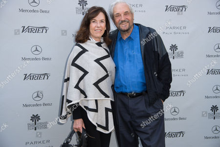 Andy Sherman, left and Hal Linden, right arrive at Variety's 10 Directors to Watch and Creative Impact Awards Presented by Mercedes-Benz at the Parker Palm Springs on ], in Palm Springs, Calif