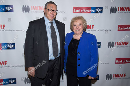 Norman Pearlstine from TIME Inc. and honoree Linda Deutsch of the Associated Press attend the International Women's Media Foundation's 26th Annual Courage in Journalism Awards at Cipriani's 42nd Street, in New York