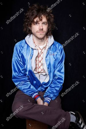 """Actor, writer, and filmmaker, Andre Hyland, poses for a portrait to promote the film, """"The 4th"""", at the Toyota Mirai Music Lodge during the Sundance Film Festival on in Park City, Utah"""