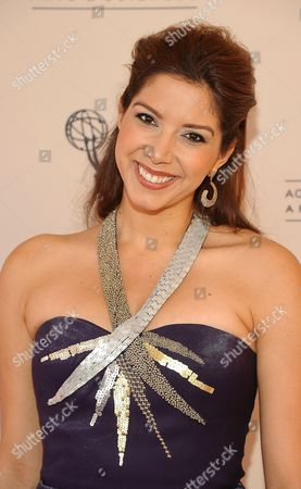 Stock Image of AUGUST 06: TV personality Viviana Vigil arrives at the 63rd Los Angeles Area Emmy Awards at the Academy of Television Arts & Sciences on in North Hollywood, California