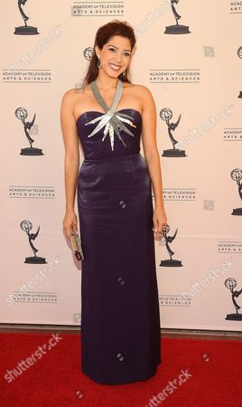 Stock Picture of AUGUST 06: TV personality Viviana Vigil arrives at the 63rd Los Angeles Area Emmy Awards at the Academy of Television Arts & Sciences on in North Hollywood, California