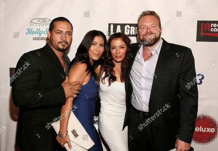 Joe Carnahan (right) and guests attend the 8th Annual HollyShorts Film Festival opening night celebration at Grauman's Chinese Theatre, in Los Angeles, CA