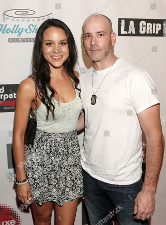 Maya Stojan and Chris Wax attend the 8th Annual HollyShorts Film Festival opening night celebration at Grauman's Chinese Theatre, in Los Angeles, CA