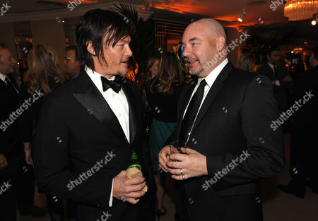 Norman Reedus and AMC's Joel Stillerman attend the AMC Golden Globes Party on in Beverly Hills, Calif