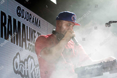 DJ Drama performs during the Boys of Zummer Tour 2015 at Aaron's Amphitheatre, in Atlanta