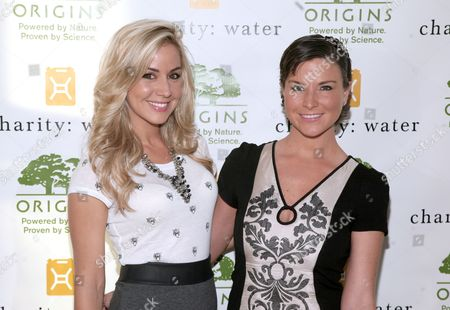 Television personalities Ashley Kelsey, left, and Diem Brown, right, attend the Origins Smarty Plants Event on in New York