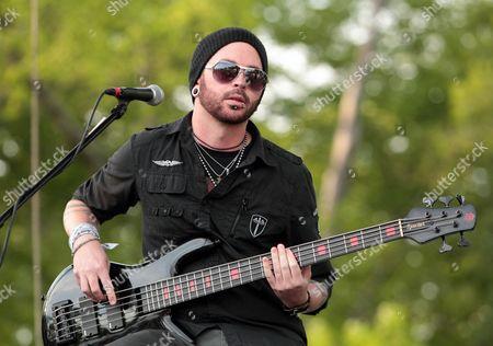 Editorial photo of Hinder in concert Wilmington Delaware