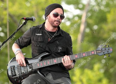 Stock Picture of Mike Rodden of the rock band Hinder performs at Rockford Park, in Wilmington, Del