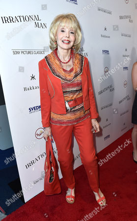"""Stock Photo of Francine York arrives at the Los Angeles premiere of """"Irrational Man"""" at the Writers Guild Theater, in Beverly Hills, Calif"""