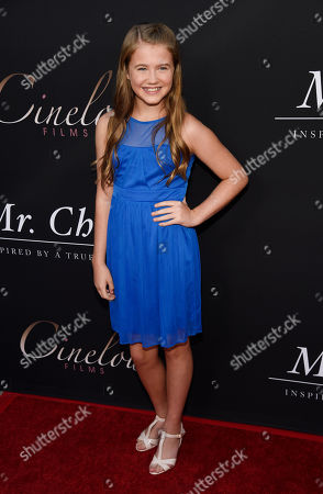 """Natalie Coughlin, a cast member in """"Mr. Church,"""" poses at the premiere of the film at the ArcLight Hollywood, in Los Angeles"""