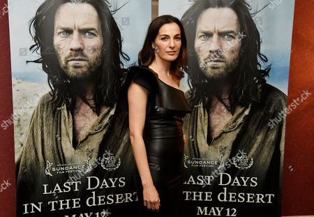 """Ayelet Zurer, a cast member in """"Last Days in the Desert,"""" poses at a special screening of the film at Laemmle's Royal Theatre, in Los Angeles"""