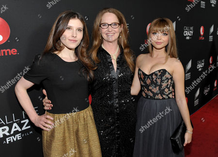 """From left, actresses Melissa Farman, Melissa Leo and Sarah Hyland arrive at Lifetime and Sony Pictures Television's premiere event for """"Call Me Crazy: A Five Film"""" at the Pacific Design Center on in West Hollywood, Calif. """"Call Me Crazy"""" debuts on Saturday, April 20, 2013 at 8 PM on Lifetime"""