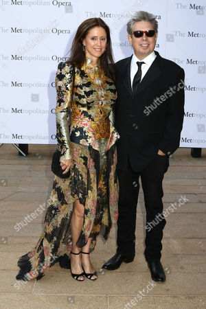 "Julie Taymor, left, and Elliot Goldenthal attend the Metropolitan Opera season opening night of Verdi's ""Otello"" at Lincoln Center, in New York"