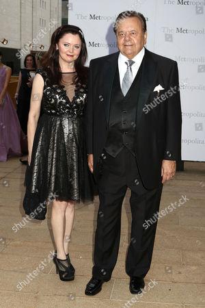 "Paul Sorvino and wife Dee Dee Benkie attend the Metropolitan Opera season opening night of Verdi's ""Otello"" at Lincoln Center, in New York"