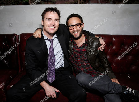 Stock Image of Jordan Firstman and John Krokidas attend the after party for Millennium Entertainment's Upside Down Los Angeles Premiere hosted by Quintessentially at Arclight Hollywood on in Los Angeles