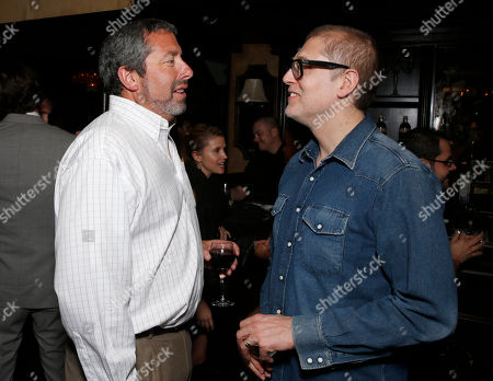 Millennium Entertainment President Steve Nickerson and Director Juan Solanas attend the after party for Millennium Entertainment's Upside Down Los Angeles Premiere hosted by Quintessentially at Arclight Hollywood on in Los Angeles