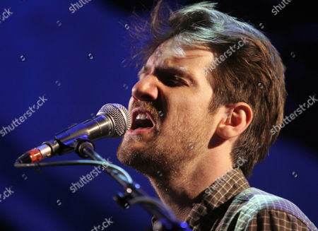 Blake Mills performs as the opener for Mumford & Sons at the Infinite Energy Arena, in Atlanta