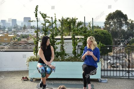 SELF Editor-in-Chief Joyce Chang, left, and Anne Vyalitsyna attend SELF: Get #UPnOUT at Palihouse, in West Hollywood, Calif