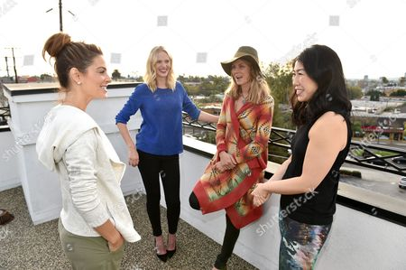 Maria Menounos, from left, Anne Vyalitsyna, Angela Lindvall, and SELF Editor-in-Chief Joyce Chang attend SELF: Get #UPnOUT at Palihouse, in West Hollywood, Calif