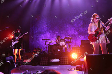 Corin Tucker, Carrie Brownstein and Janet Weiss with Sleater-Kinney performs at the Tabernacle, in Atlanta