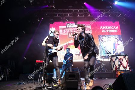 James Adam Shelley (left) and Zac Barnett and American Authors performs at Perez Hilton's One Night in Austin showcase at the Austin Music Hall at the 2014 SXSW Music, Film + Interactive Festival, on in Austin, Texas