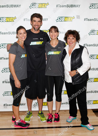 Editorial photo of The Phelps Family and Team SUBWAY Train for the ING City Marathon, New York, USA