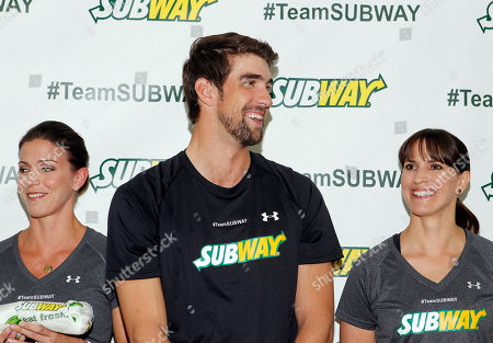 Editorial picture of The Phelps Family and Team SUBWAY Train for the ING City Marathon, New York, USA