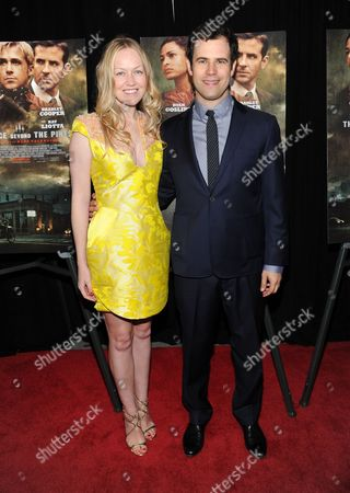 "Producers Lynette Howell and Alex Orlovsky attend the premiere of Focus Features' ""The Place Beyond The Pines"" at the Landmark Sunshine Theater on in New York"