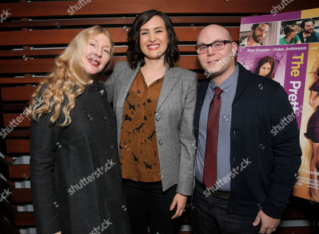 Producer Robin Schorr, Writer/Director Jenee LaMarque and Producer Steven Berger attend The Pretty One Special Screening at UTA on in Los Angeles